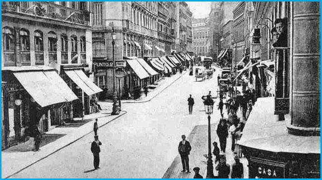 la calle Arenal de Madrid hace décadas
