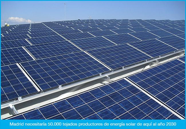 Madrid con placas solares
