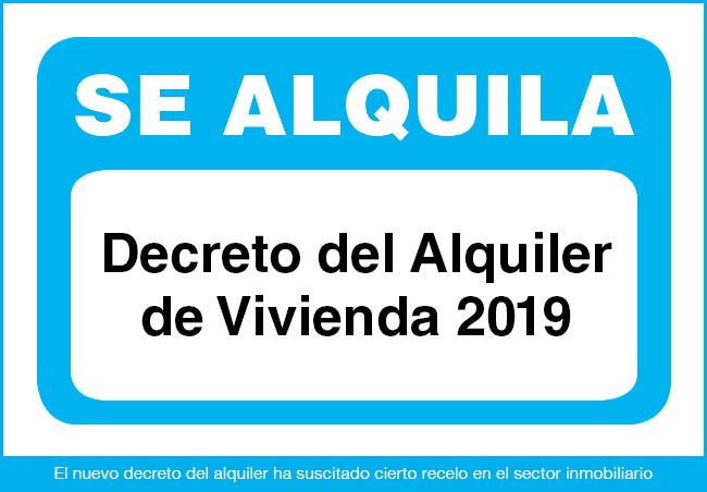 Nuevo Decreto del Alquiler de Vivienda 2019