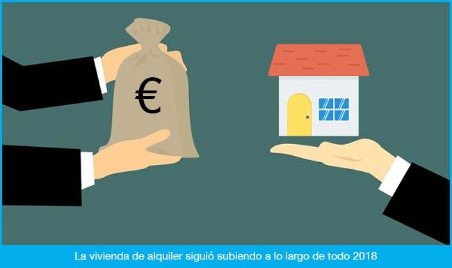 La vivienda de alquiler sigue subiendo