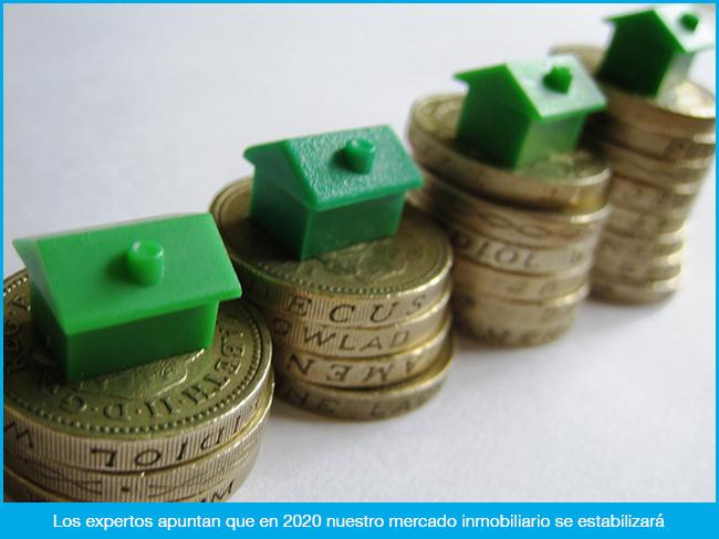 Los precios de la vivienda tocarán techo en 2020