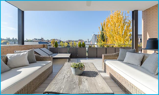 Quiero una vivienda con terraza y jardín